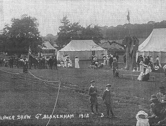 Flower Show Great Blakemham 1912 Kindly supplied by Mr & Mrs R Hood