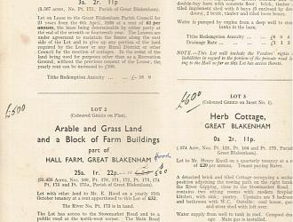 1941 auction of part of the Shrubland estate Kindly supplied by Mr & Mrs R Hood