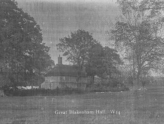 Great Blakenham Hall, Kindly supplied by Mr & Mrs R Hood