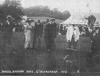 Wheel Barrow Race, 1912, Kindly supplied by Mr & Mrs R Hood
