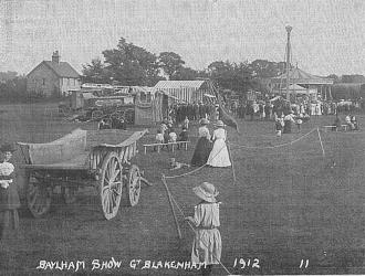 Baylham Show Great Blakenham 1912 Kindly supplied by Mr & Mrs R Hood