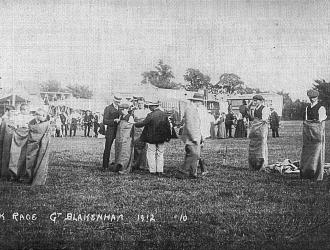 Sack Race Great Blakenham 1912 Kindly supplied by Mr & Mrs R Hood