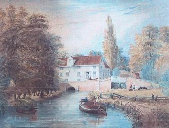 Great Blakenham Water Mill Circa 1850
