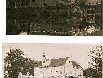 Great Blakenham Mill Postcards, Kindly supplied by Mr & Mrs R Hood