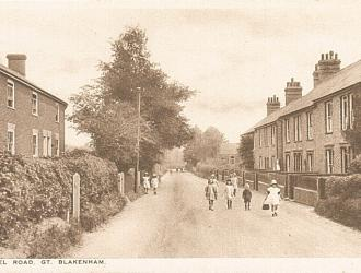 Chapel Lane Postcard, Kindly supplied by Mr & Mrs R Hood