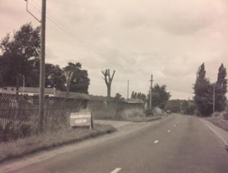 Gipping Road looking west from what is now Plummers Dell, kindly supplied by Wendy and Peter Smith