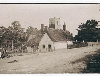 early image of church and cottage Kindly supplied by Mr & Mrs R Hood